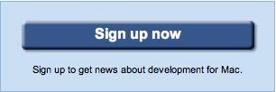 Google signup for Mac version