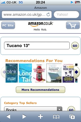 "Amazon: Search 'Tucano 13""''"