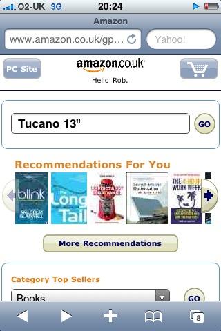 """Amazon: Search 'Tucano 13""""''"""